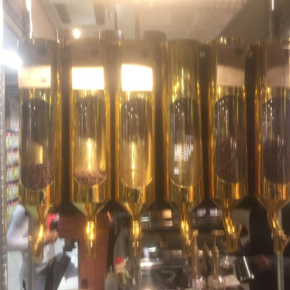 Gold Coffee Bean Dispensers