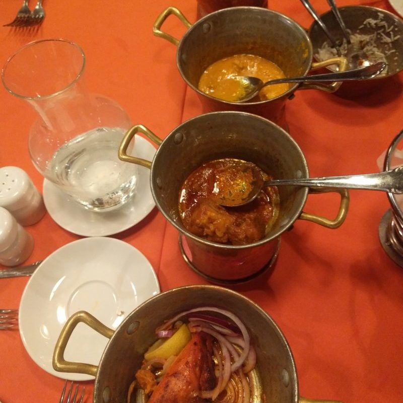 A delicious meal each time of small sample dishes of chicken, fish, lamb and vegetarian
